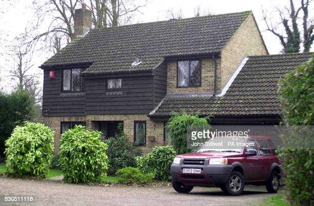 A house in the Pound Hill area of Crawley West Sussex where two teenage girls were found dead on 10/12/00 morning Postmortem examinations were under...