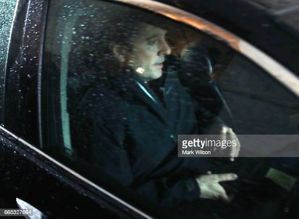 House Intelligence Committee Chairman Devin Nunes is driven off in a car after stepping down from leading the investigation into possible Russian...