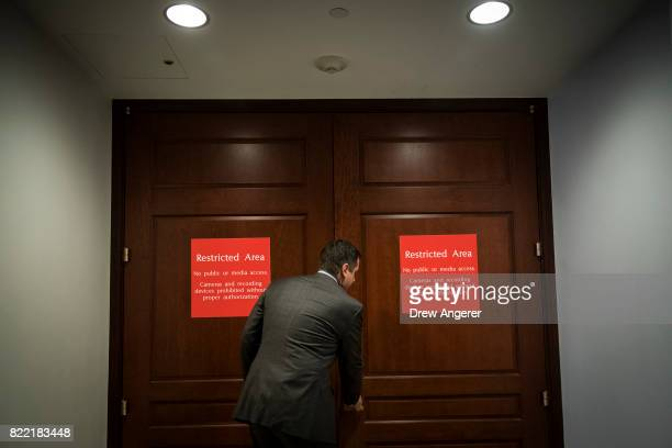 House Intelligence Committee Chairman Devin Nunes who previously had recused himself from the panel's Russia investigation arrives ahead of White...