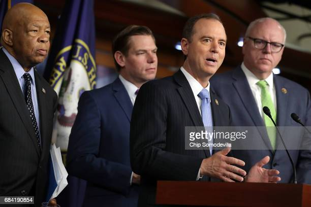 House Intelligence Committee ranking member Rep Adam Schiff speaks during a news conference with House Oversight and Government Reform Committee...