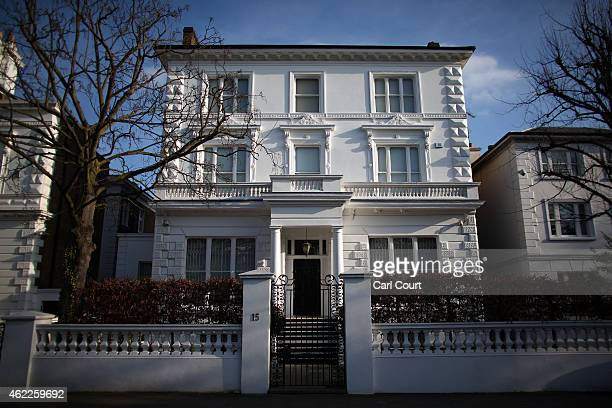 A house is seen on January 23 2015 in an affluent area of west London England The Labour Party has proposed a Mansion Tax under which properties over...