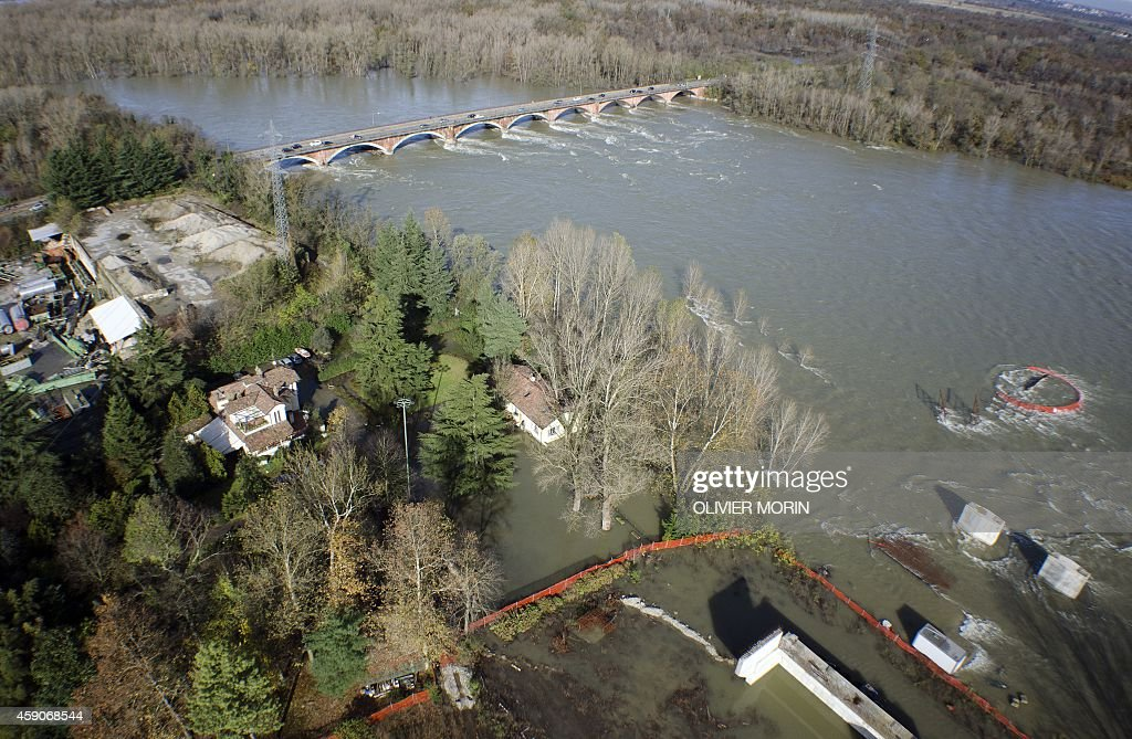 A House Is Surrounded By Water During Floods Near Vigevano