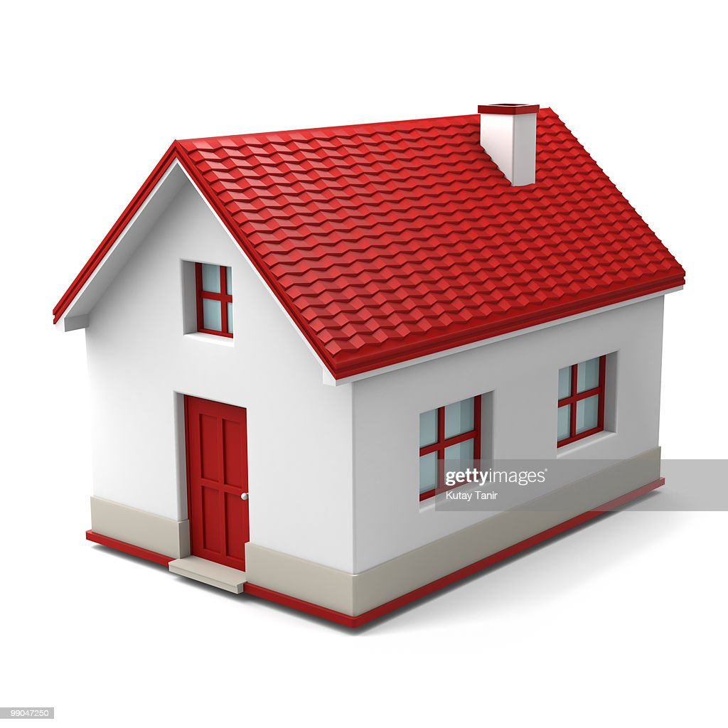 A house isolated on a white background.  : Stock Photo