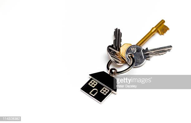 House keys with copy space