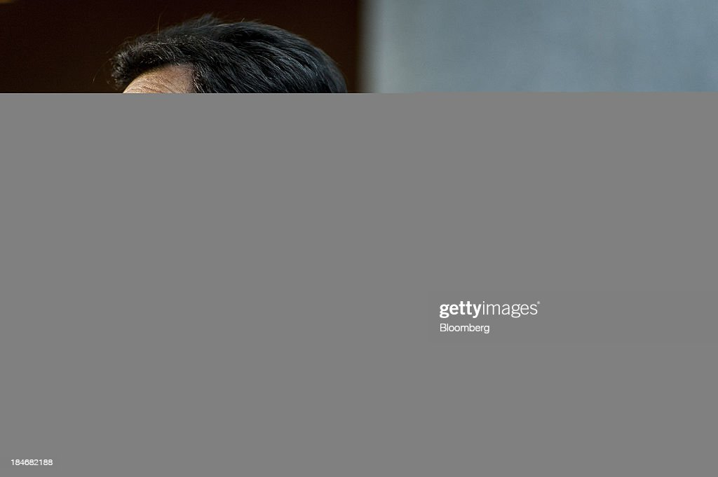 House Majority Leader <a gi-track='captionPersonalityLinkClicked' href=/galleries/search?phrase=Eric+Cantor&family=editorial&specificpeople=653711 ng-click='$event.stopPropagation()'>Eric Cantor</a>, a Republican from Virginia, speaks to members of the media at the United States Capitol in Washington, D.C., U.S., on Tuesday, Oct. 15, 2013. The fiscal showdown in Washington entered its final stages as the House and Senate prepared competing plans that would end the 15-day-old government shutdown and prevent the U.S. from missing promised payments. Photographer: Pete Marovich/Bloomberg via Getty Images
