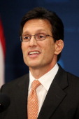 House Majority Leader Eric Cantor announces that he will resign his leadership position in the House of Representatives on July 31 after having lost...