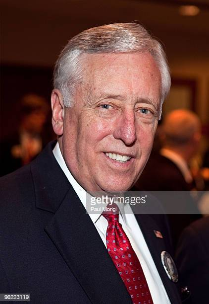S House Majority Leader Rep Steny H Hoyer attends the Eunice Kennedy Shriver Act support reception at the Hart Building on January 27 2010 in...