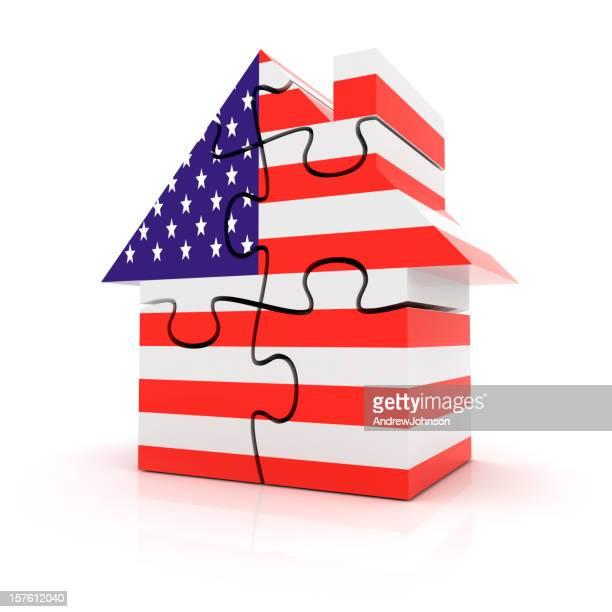 USA House Market Puzzle Concept
