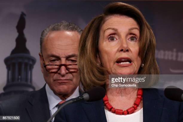 House Minority Leader Nancy Pelosi and Senate Minority Leader Chuck Schumer members of the House and Senate Budget Ways and Means and Finance...
