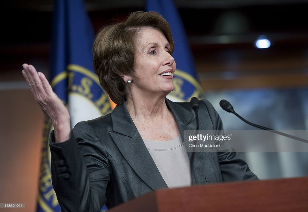 House Minority Leader Nancy Pelosi, D-Calif., speaks at news conference on the ongoing 'Fiscal Cliff' budget impasse. Pelosi criticized the Republican 'Plan B' as an attack on the poor and middle class.