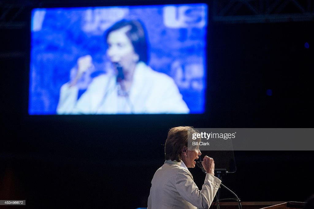 House Minority Leader Nancy Pelosi, D-Calif., speaks to the United Steelworkers Convention in Las Vegas, Nev., on Monday, Aug. 11, 2014.
