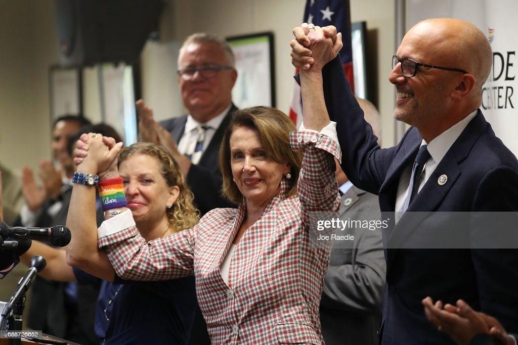 Democratic Reps. Pelosi, Deutch, And Wasserman Hold Discussion On LGBT Rights