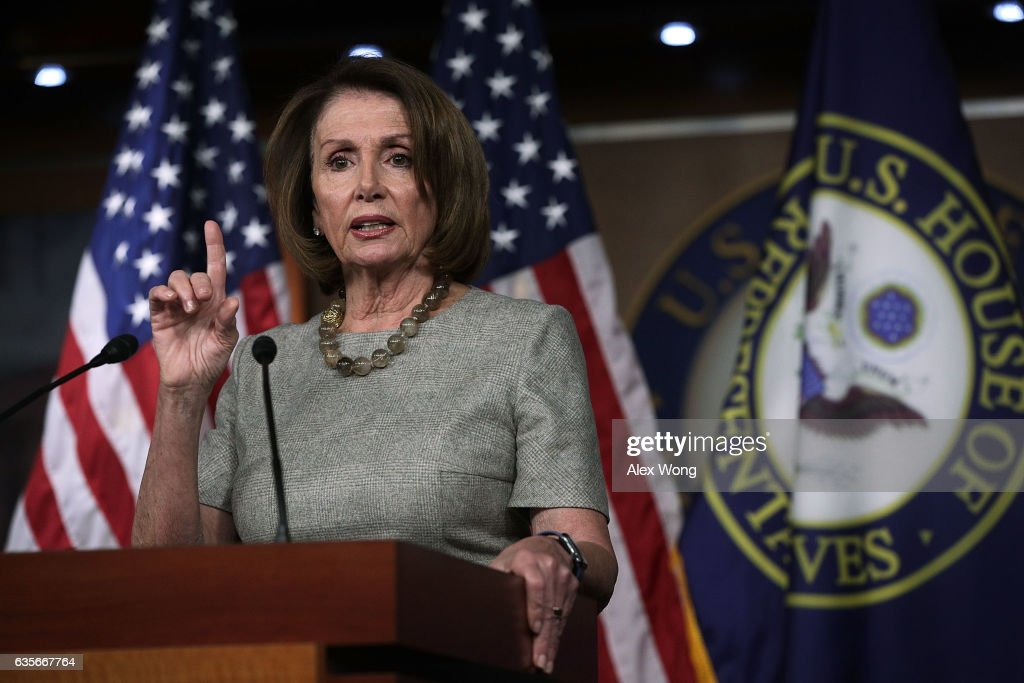 Nancy Pelosi Holds Weekly Press Briefing On Capitol Hill