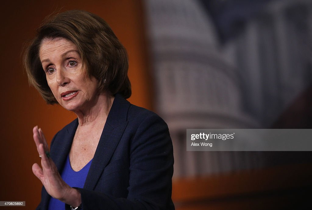 Pelosi Holds Weekly News Conference At The Capitol