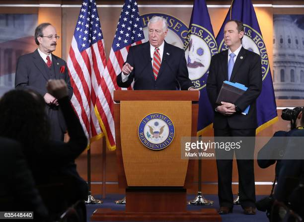 House Minority Whip Steny Hoyer House Intelligence ranking member Adam Schiff and House Foreign Affairs ranking member Eliot Engel speak to the media...
