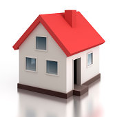 House model - isolated on white with clipping path