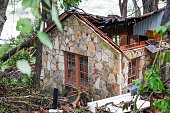 A house near the Blanco River sustained heavy damage May 26 2015 in Wimberley Texas Central Texas has been hit with severe weather including...