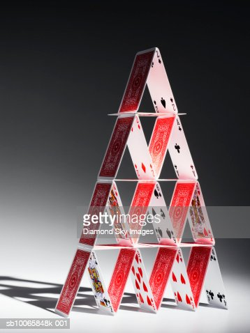 House of cards, close-up : Stock Photo