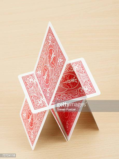 House of cards, elevated view