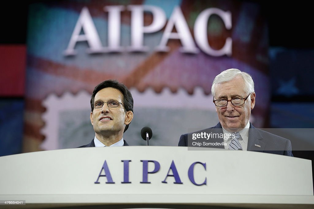 U.S. House of Representatives Majority Leader Eric Cantor (R-VA) (L) and Minority Whip Steny Hoyer (D-MD) deliver remarks during the American Israel Public Affairs Committee's Policy Conference at the Walter Washington Convention Center March 3, 2014 in Washington, DC. Secretary of State John Kerry is scheduled to address AIPAC and then leave directly from the conference to travel to Kiev to meet with members of Ukraine's new government.