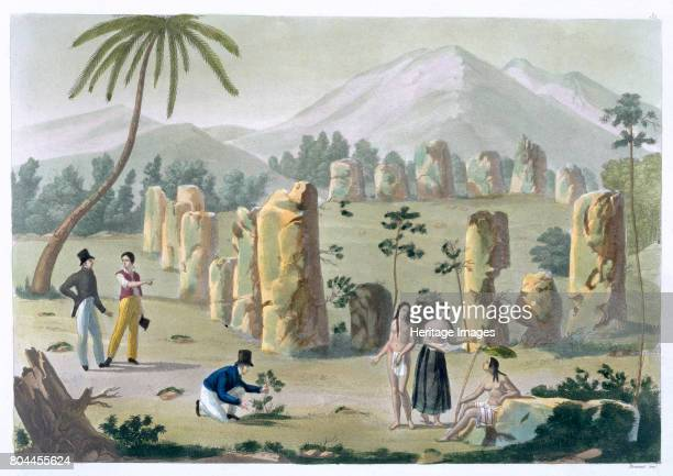 House of the Ancients Island of Tinian' c18201839 Plate 31 from Le Costume Ancien et Moderne by Jules Ferrario Examples of distinctive stone...