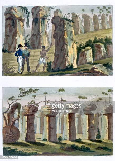 House of the Ancients Island of Tinian' c18201839 Plates 32a and 32b from Le Costume Ancien et Moderne by Jules Ferrario Examples of distinctive...