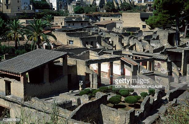 House of the relief of Telephus archaeological site of Herculaneum Campania Italy Roman civilisation Augustan Age