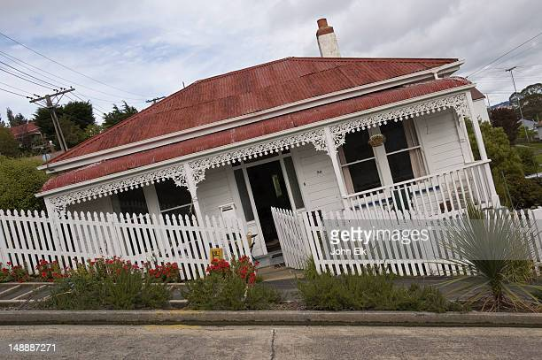 House on Baldwin Street, steepest street in the world.