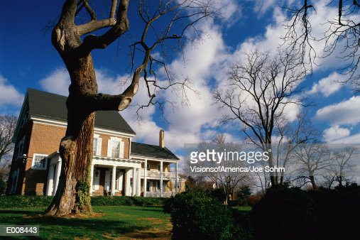 House on large piece of property : Stock Photo