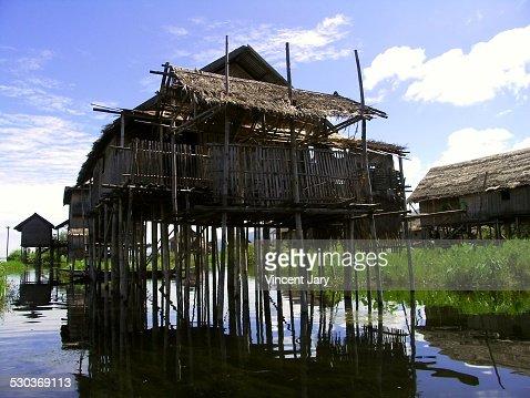 House on stilts Myanmar