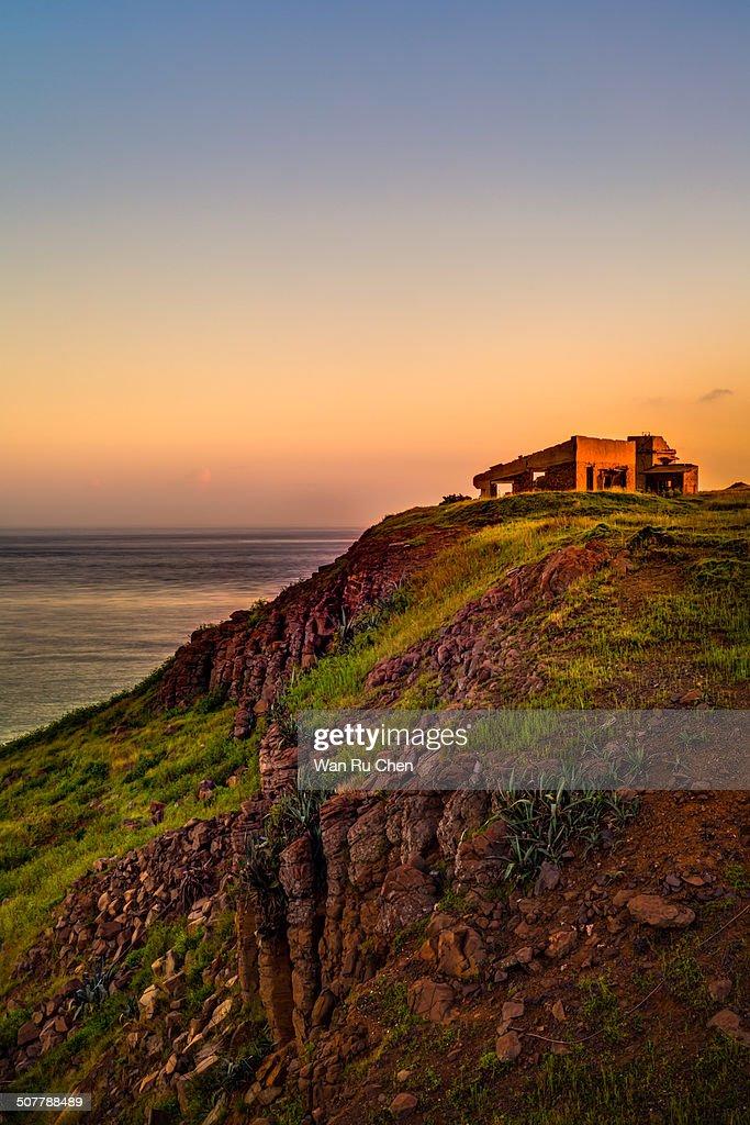 House on the cliff coast