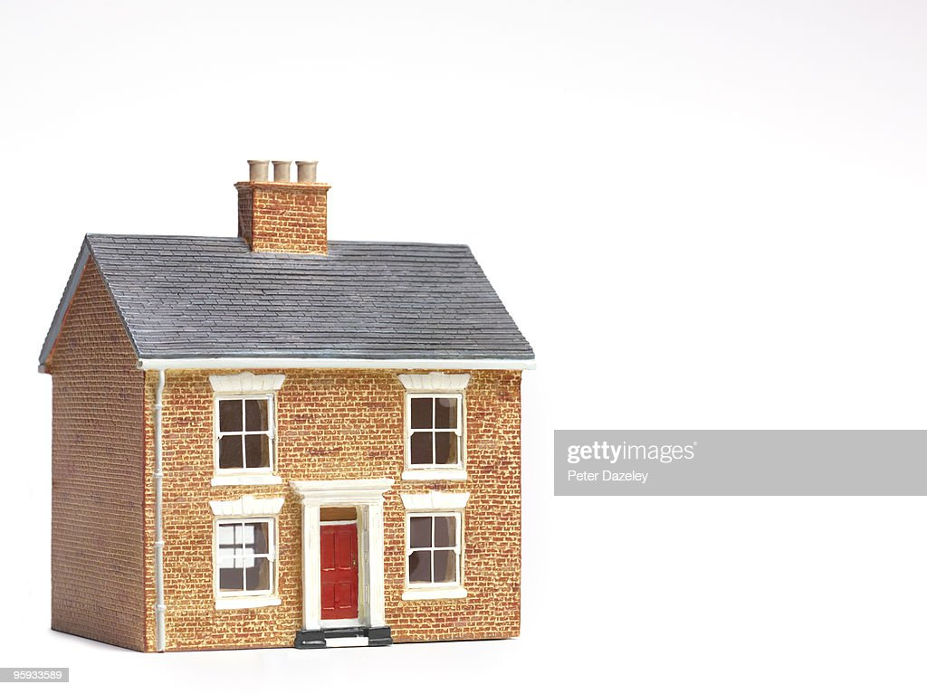 House on white background with copy space : Stock Photo