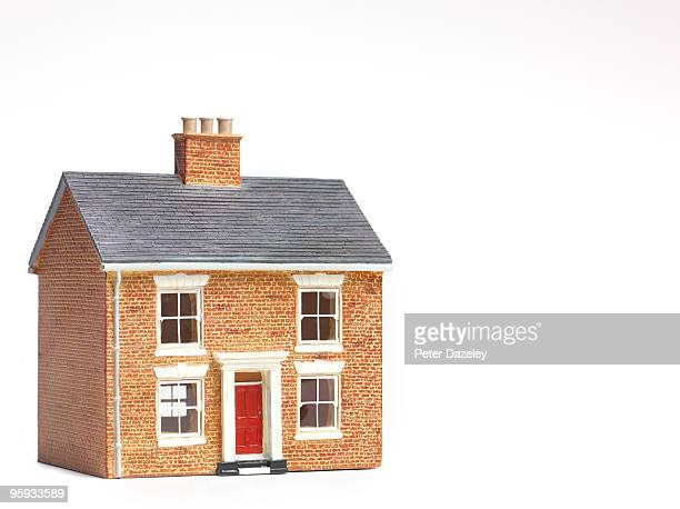 House on white background with copy space