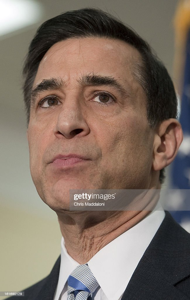 House Oversight and Government Reform Chairman Darrell Issa, R-Calif., speaks at a press conference to unveil the GAO's biennial list of entities and programs identified as 'high risk' for waste, fraud, abuse or mismanagement.