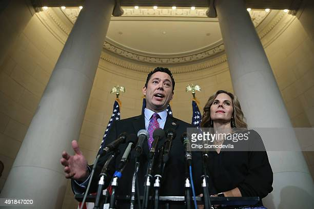 House Oversight and Government Reform Committee Chairman Jason Chaffetz confirms that his is still a candidate for Speaker of the House with his wife...