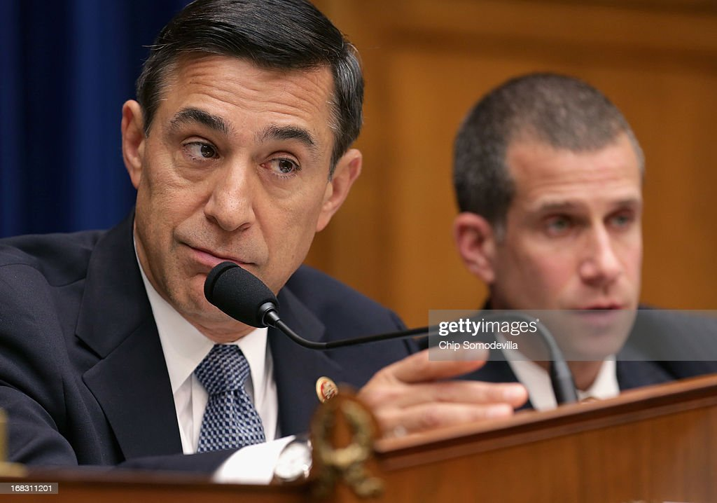 House Oversight and Government Reform Committee Committee Chairman <a gi-track='captionPersonalityLinkClicked' href=/galleries/search?phrase=Darrell+Issa&family=editorial&specificpeople=2263419 ng-click='$event.stopPropagation()'>Darrell Issa</a> (R-CA) leads a hearing titled, 'Benghazi: Exposing Failure and Recognizing Courage' in the Rayburn House Office Building on Capitol Hill May 8, 2013 in Washington, DC. Issa is leading the GOP investigation of the Sept. 11, 2012, assaults that killed U.S. Ambassador J. Christopher Stevens and three other Americans, which is now focused on the State Department and whether officials there deliberately misled the public about the nature of the assault.
