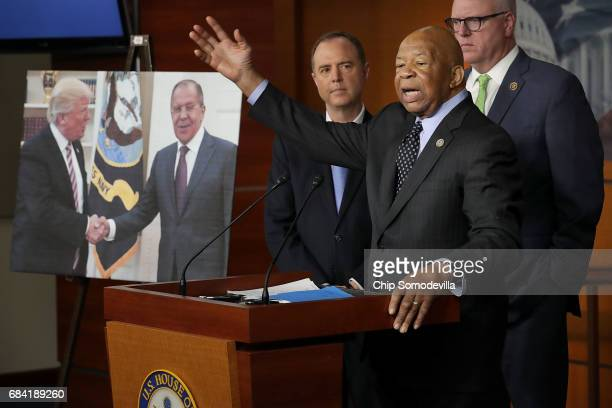 House Oversight and Government Reform Committee ranking member Rep Elijah Cummings speaks during a news conference with House Intelligence Committee...