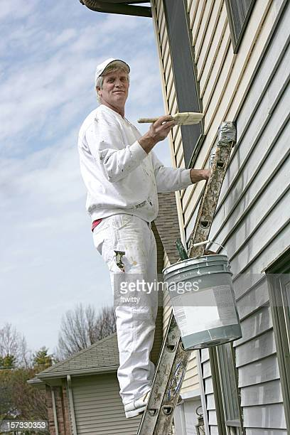 House Painter Looking at Camera