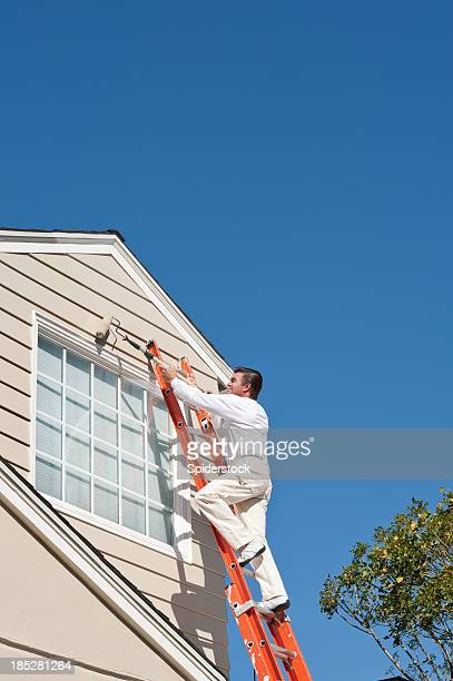 House Painter With Paint Roller