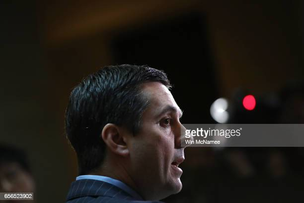 House Permanent Select Committee on Intelligence Chairman Devin Nunes speaks to reporters during a press conference at the US Capitol March 22 2017...