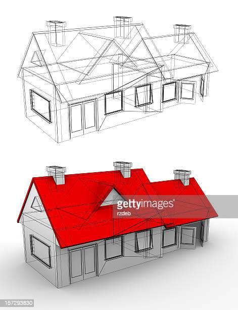 House project, building blueprint