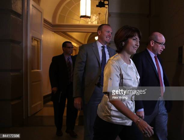 S House Republican Conference Chair Rep Cathy McMorris Rodgers arrives at a House Republican Conference meeting September 8 2017 at the Capitol in...