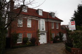 A house rumoured to have been bought by Saif alIslam Gaddafi son of Libyan leader Colonel Gaddafi displays a for sale sign in Hampstead on February...