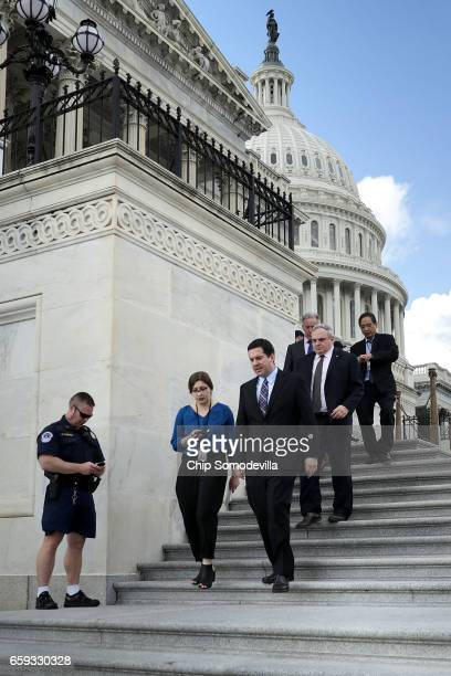 House Select Committee on Intelligence Chairman Devin Nunes leaves the US Capitol after a series of votes March 28 2017 in Washington DC Nunes said...