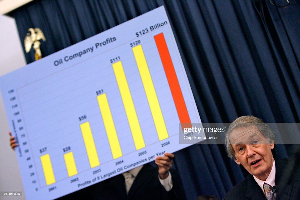 House Select Energy Independence and Global Warming Committee Chairman Edward Markey (D-MA) delivers his opening statement on Capitol Hill April 1, 2008 in Washington, DC. In the face of record gasoline and oil prices, the committee called into question the record profits posted by the five largest American oil companies and their commitment to developing clean and renewable fuels.