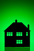 House Shape Against Green Background