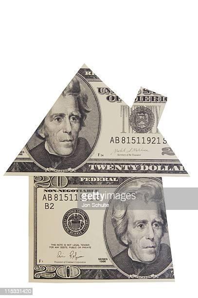 House Shape made of Money