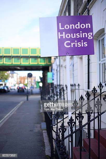 House sign 'London Housing Crisis'