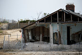 A house sits abandoned two years after Superstorm Sandy in Ortley Beach on October 29 2014 in Toms River New Jersey Hurricane Sandy was recorded as...