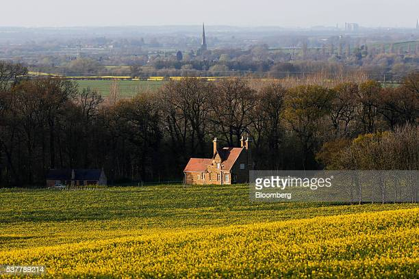 A house sits in the countryside in the village of Belvoir near Melton Mowbray UK on Tuesday April 19 2016 Melton Mowbray Pork Pies are one of the...